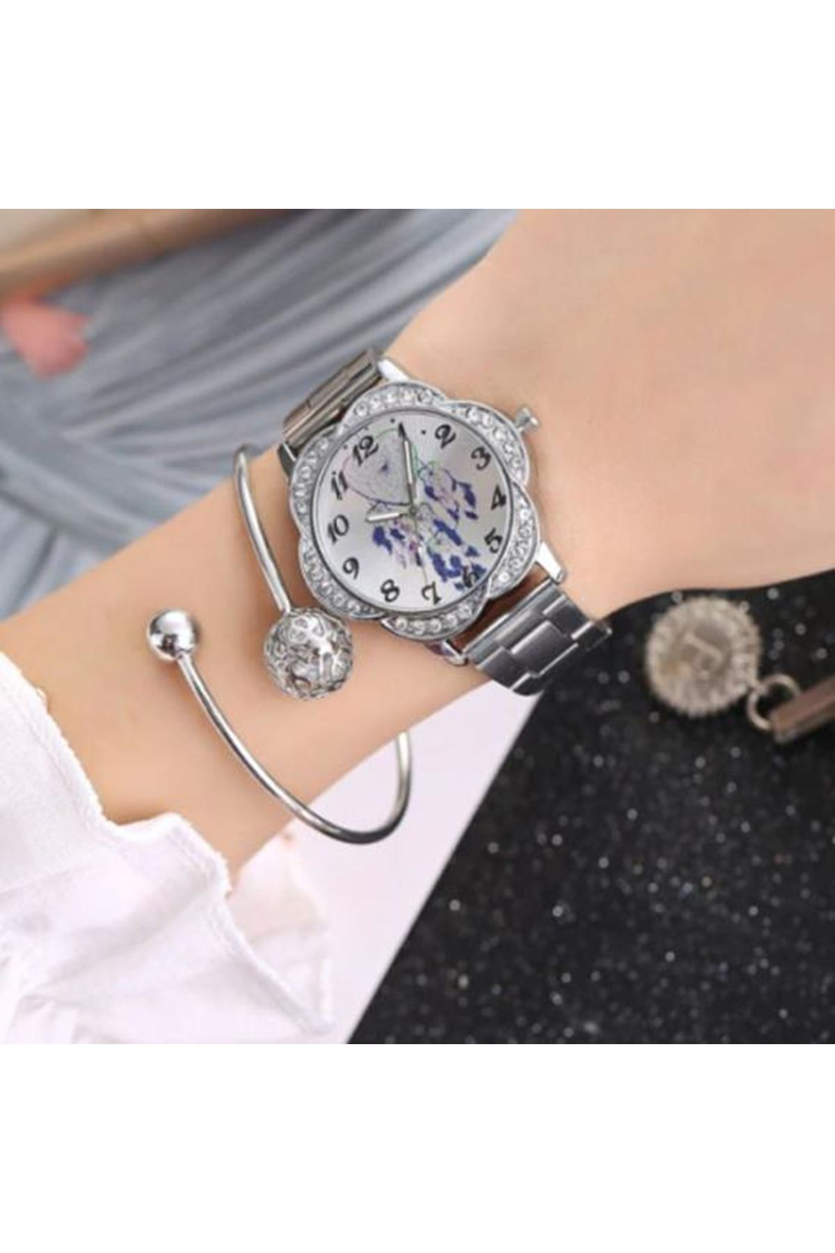 9049 Gümüş Kadın Saat