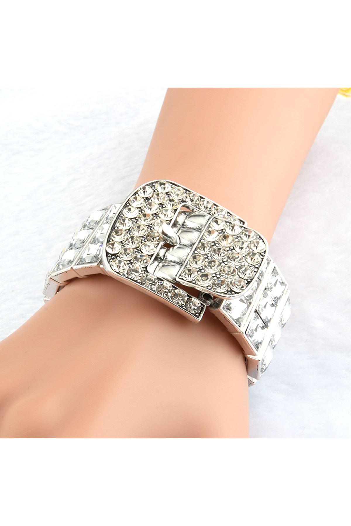 7056 Gümüş Kadın Bileklik