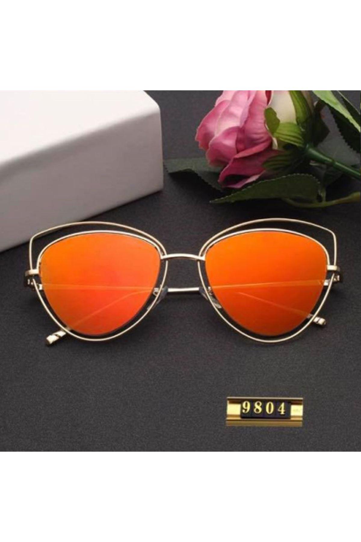 6010 Turuncu Ayna Kadın Gözlük