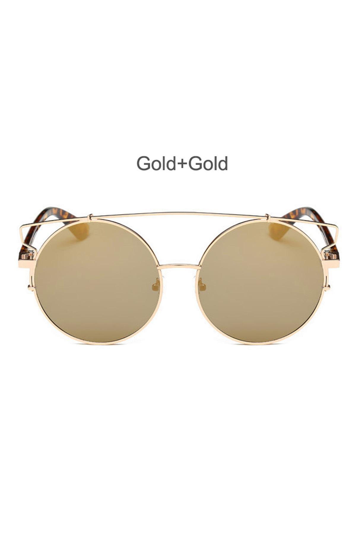 6007 Altın Ayna Cam Kadın Gözlük