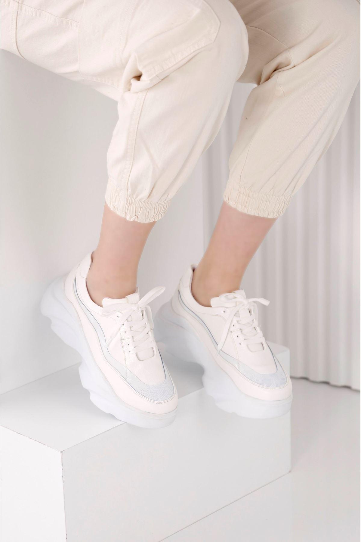 Wind 3809 - Kadın Beyaz Spor Ayakkabı