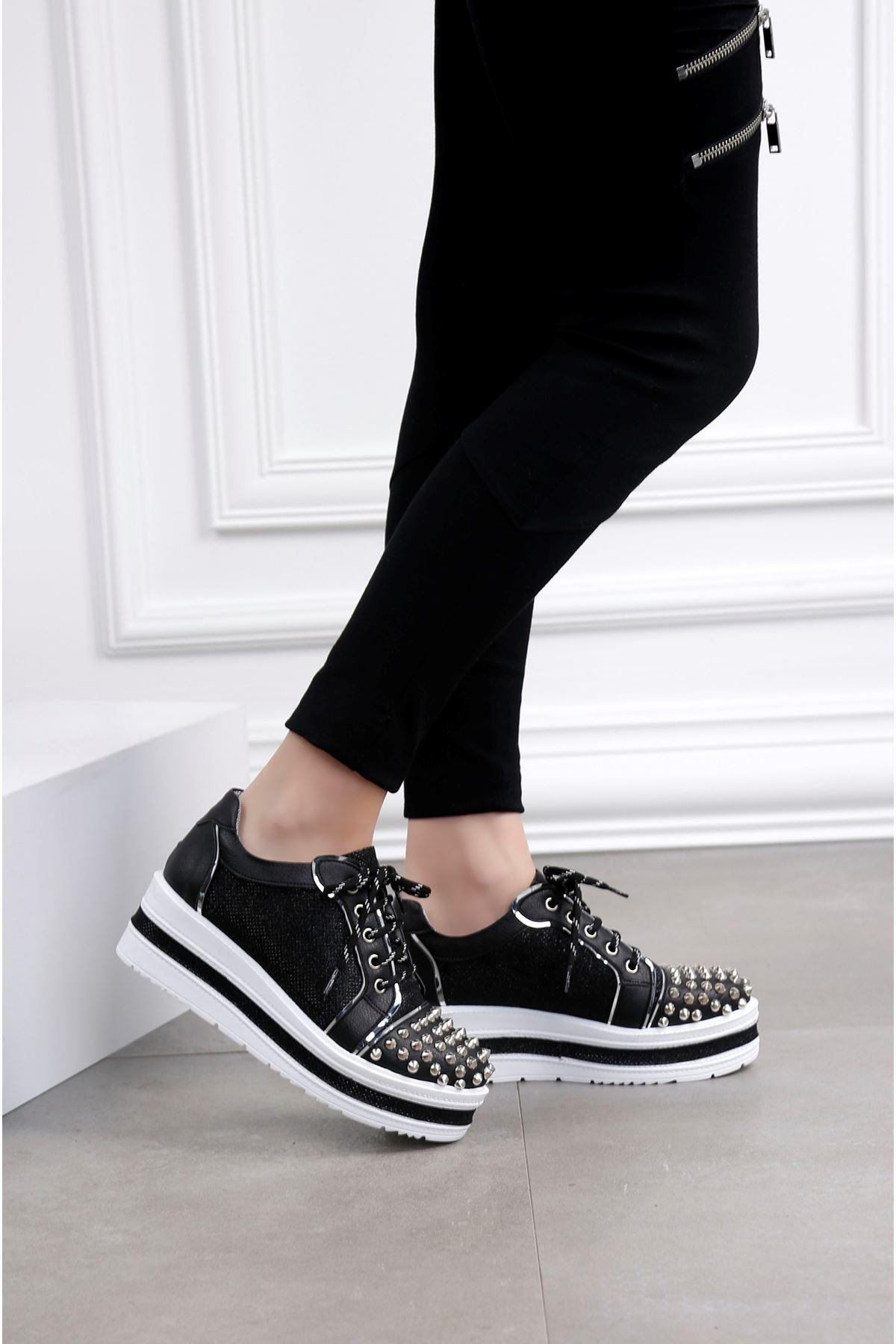 AGAINST Zımba Kaplama Siyah Ayakkabı