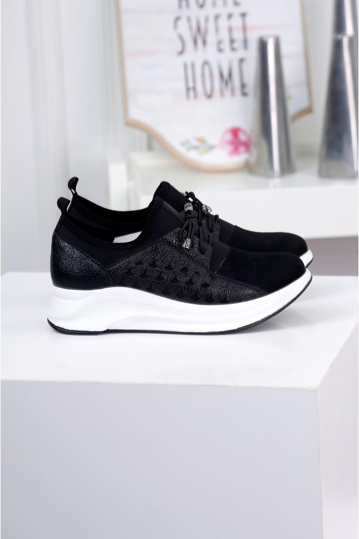 NOBLE Siyah Günlük Süet Ayakkabı