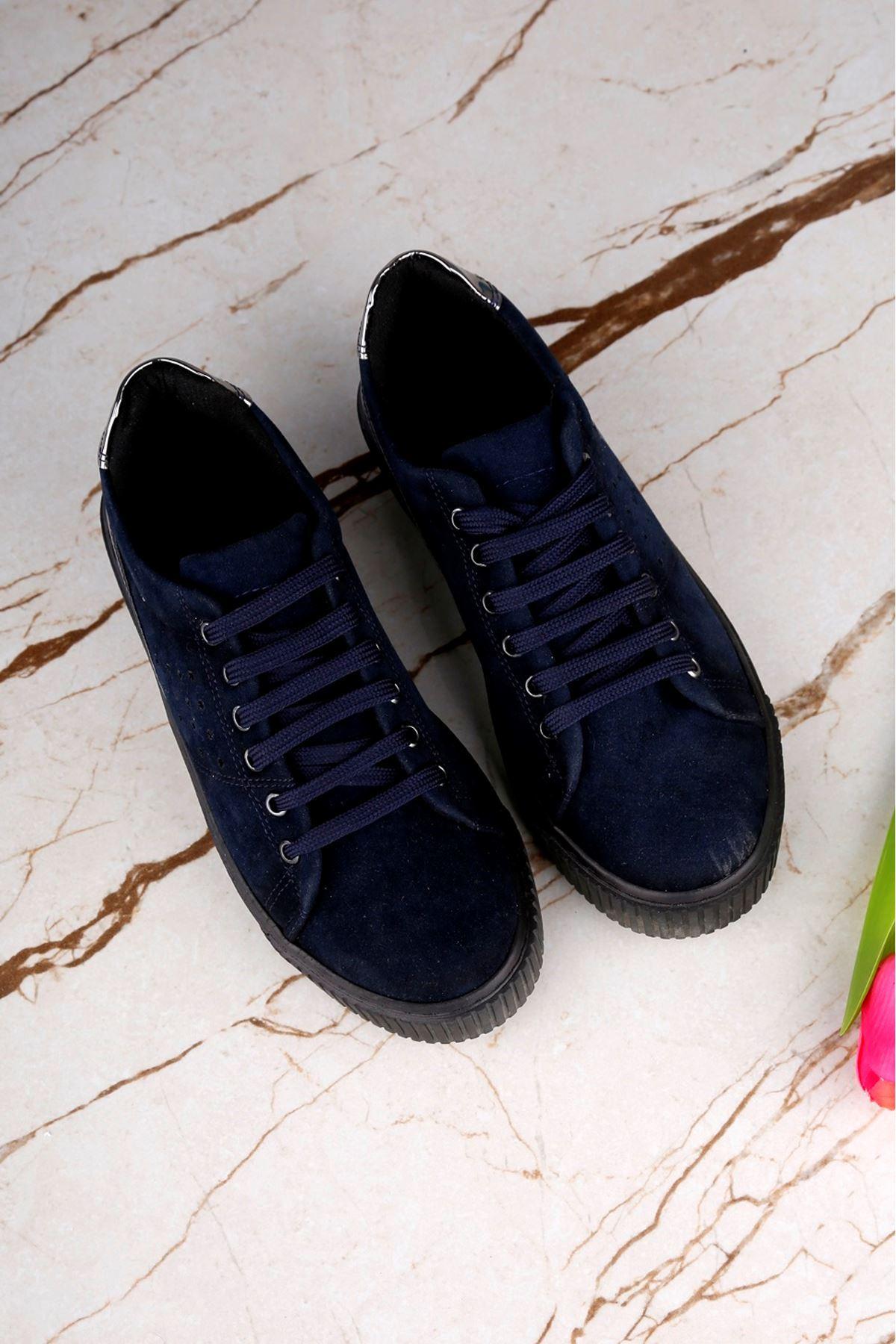 HILL Lacivert Süet Ayakkabı