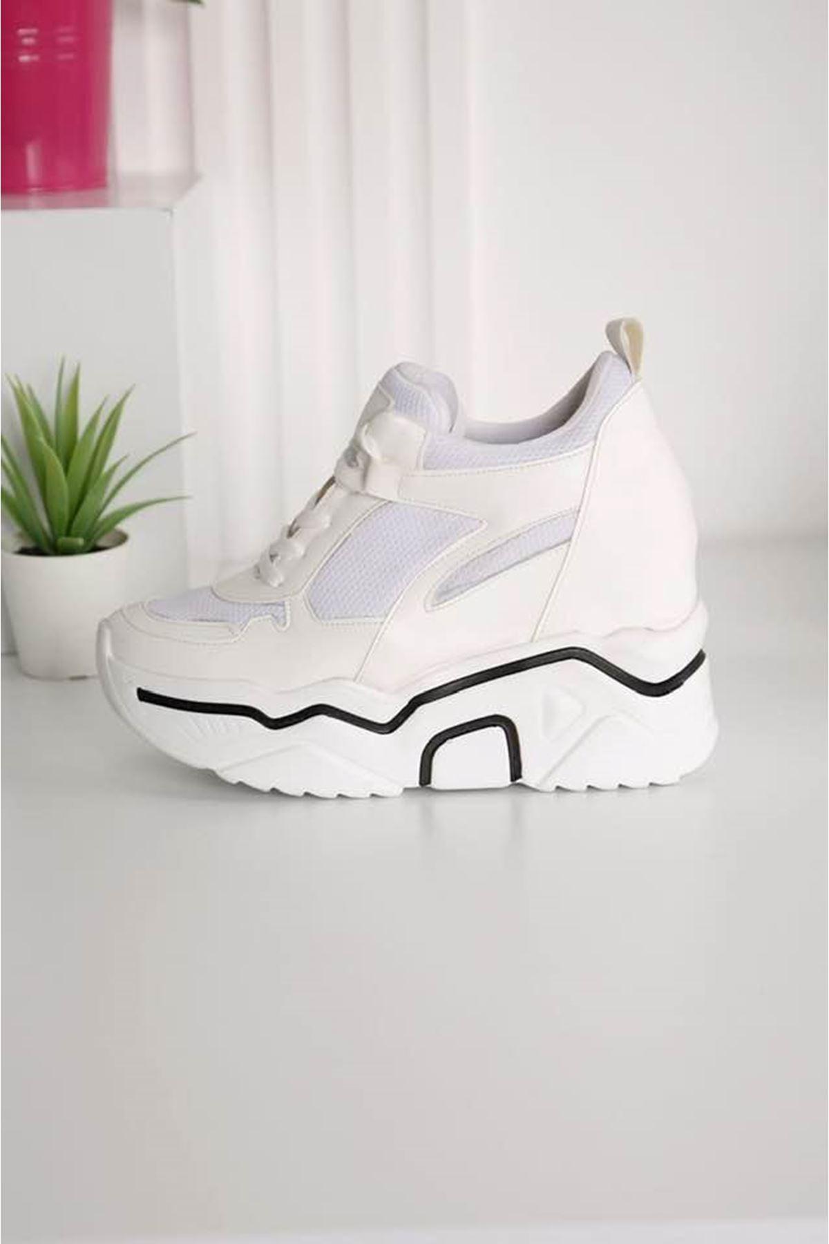 Showy Beyaz Platform Spor Ayakkabı