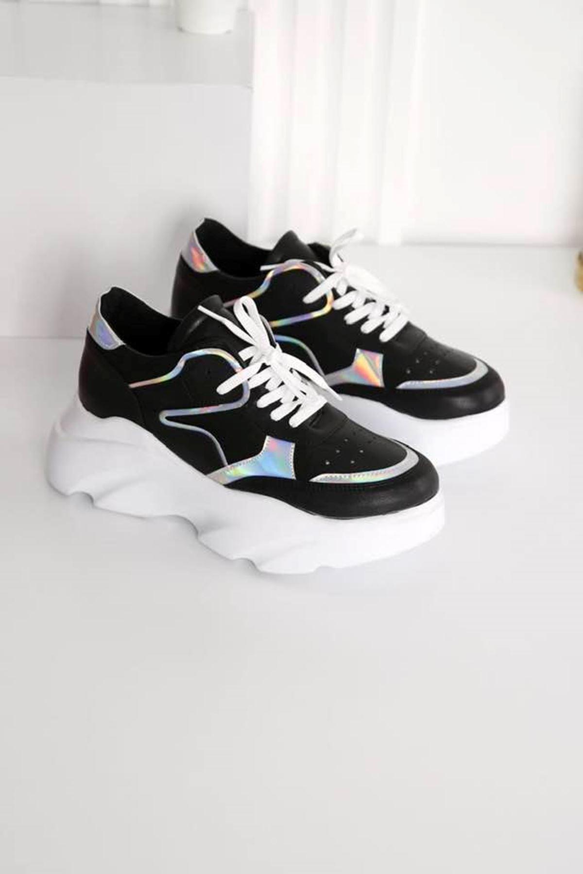 Step Siyah Spor Ayakkabı