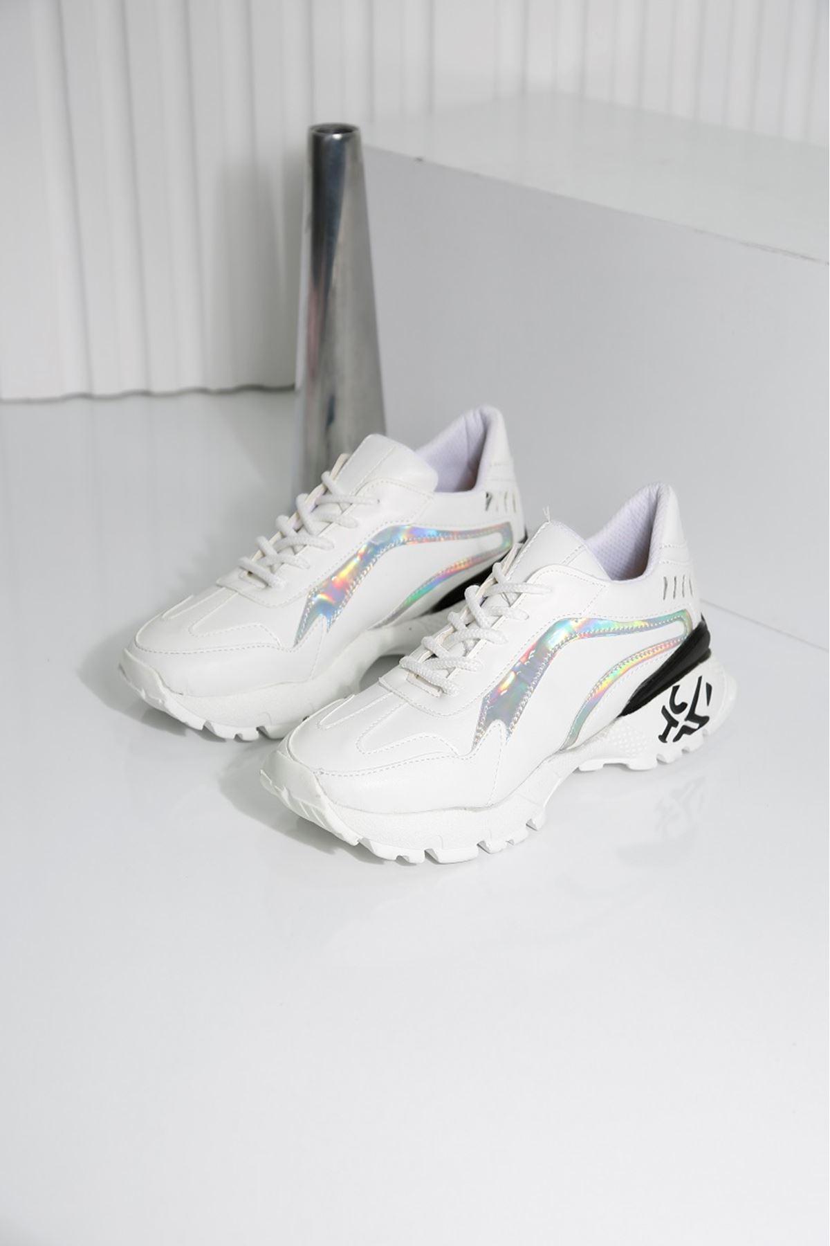 SAFİR Beyaz Kadın Spor Ayakkabı