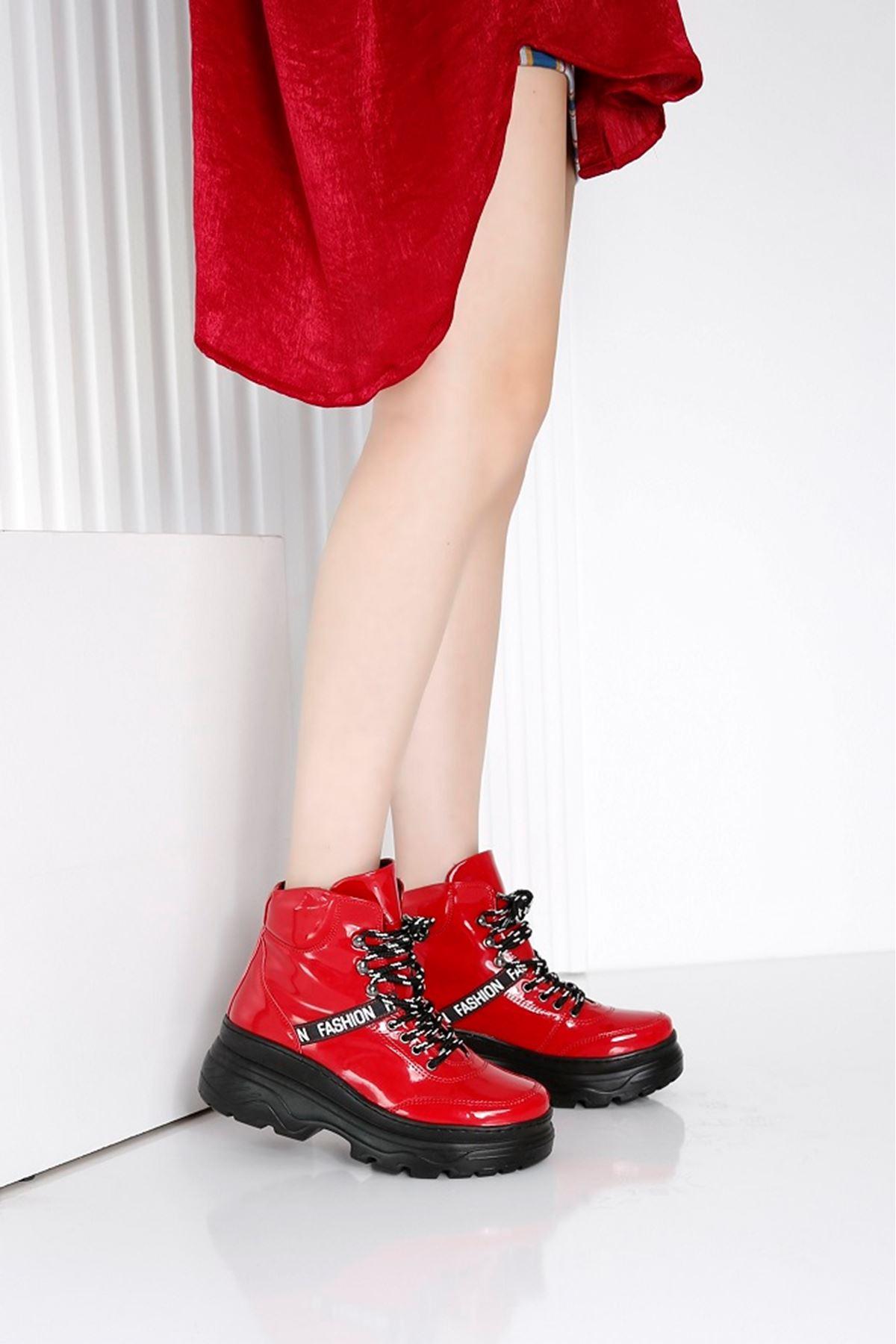 POWER Kırmızı Rugan Kadın Bot