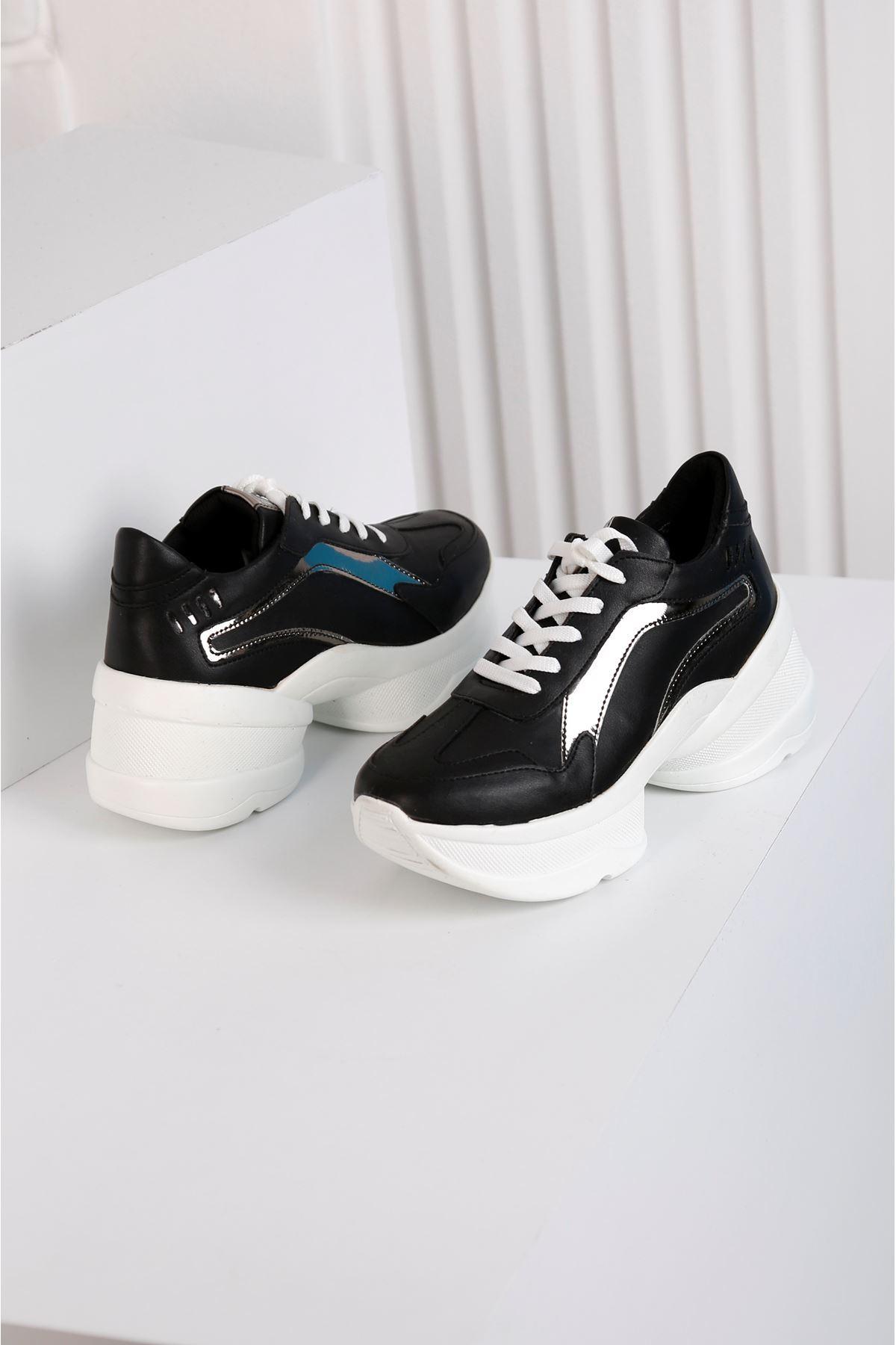Spring  Siyah Spor Ayakkabı