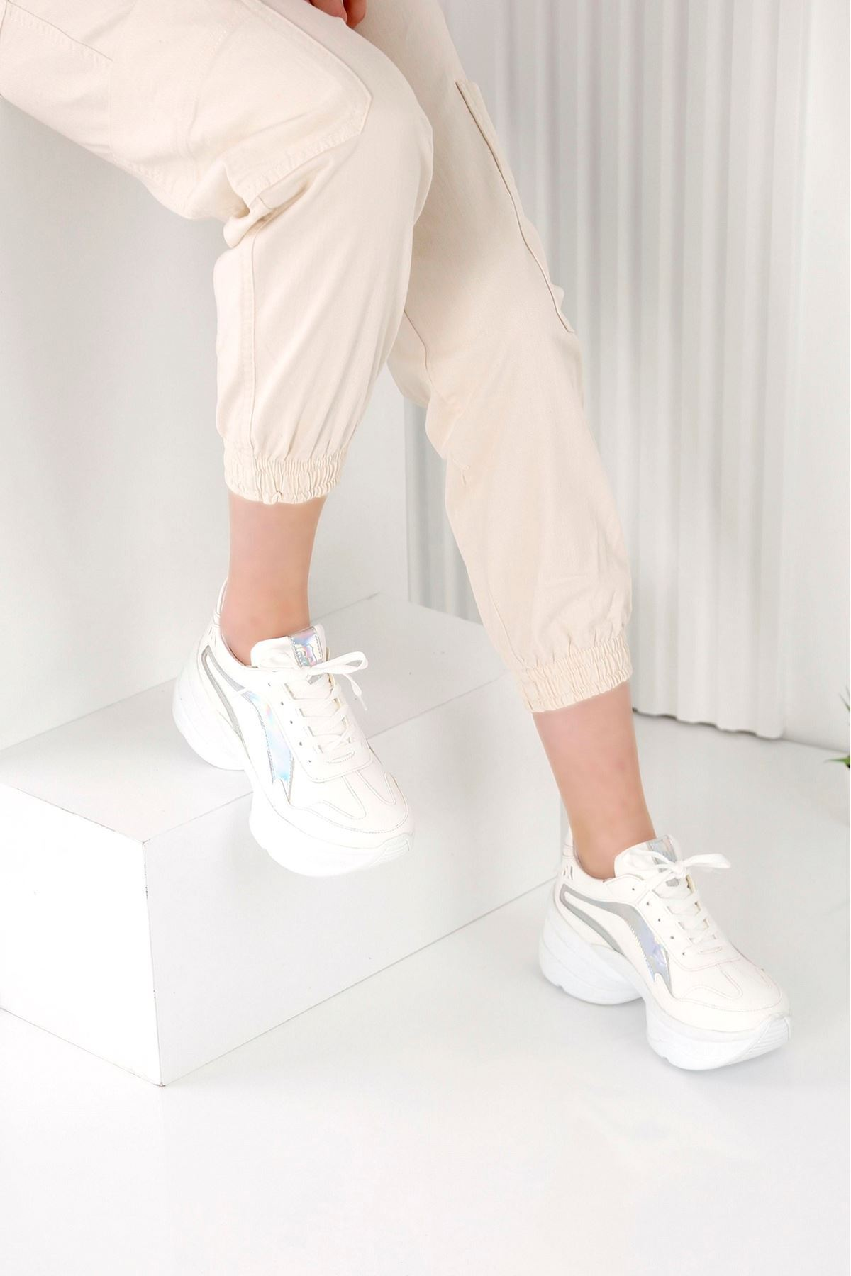Spring Beyaz  Spor Ayakkabı