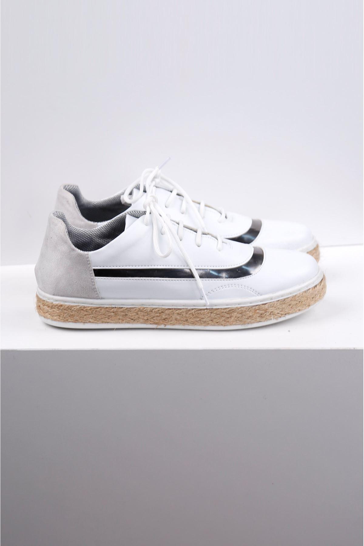 WICKER Beyaz Hasır Taban Spor Ayakkabı