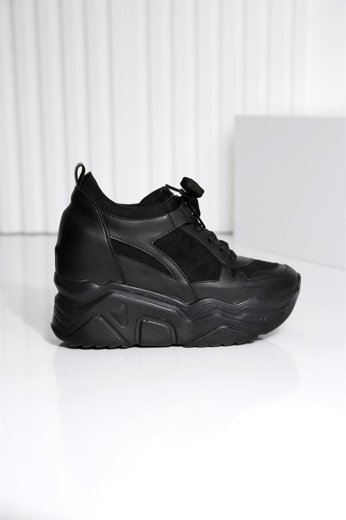 Showy Siyah Platform Spor Ayakkabı