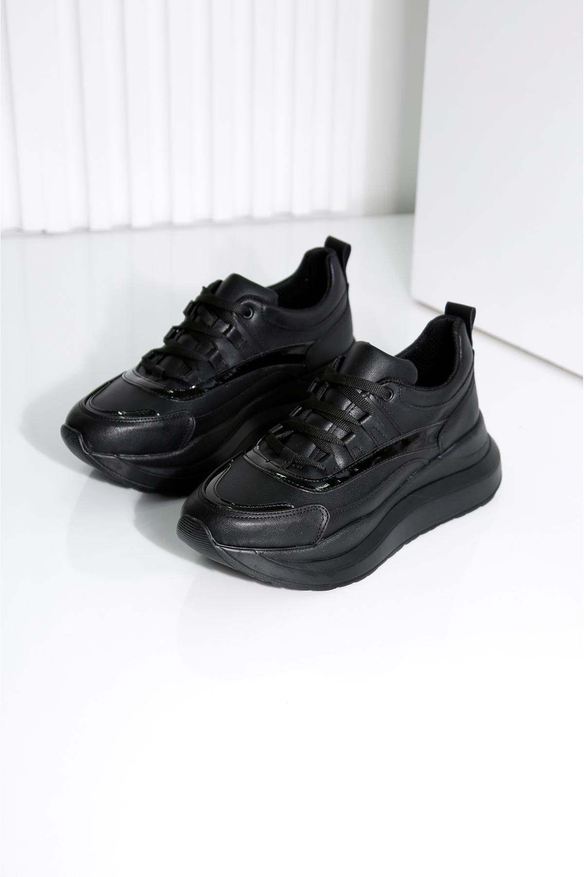 TOWN Siyah Kadın Spor Ayakkabı