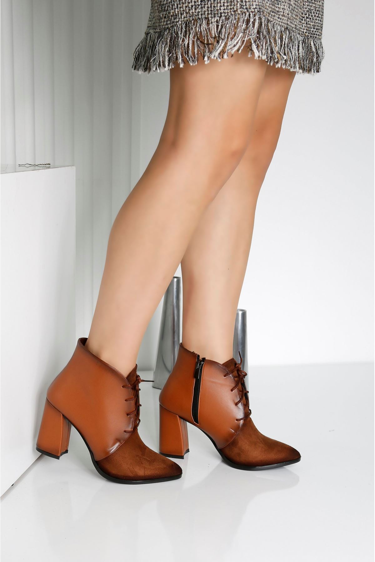 REAL Taba Kadın Topuklu Bot
