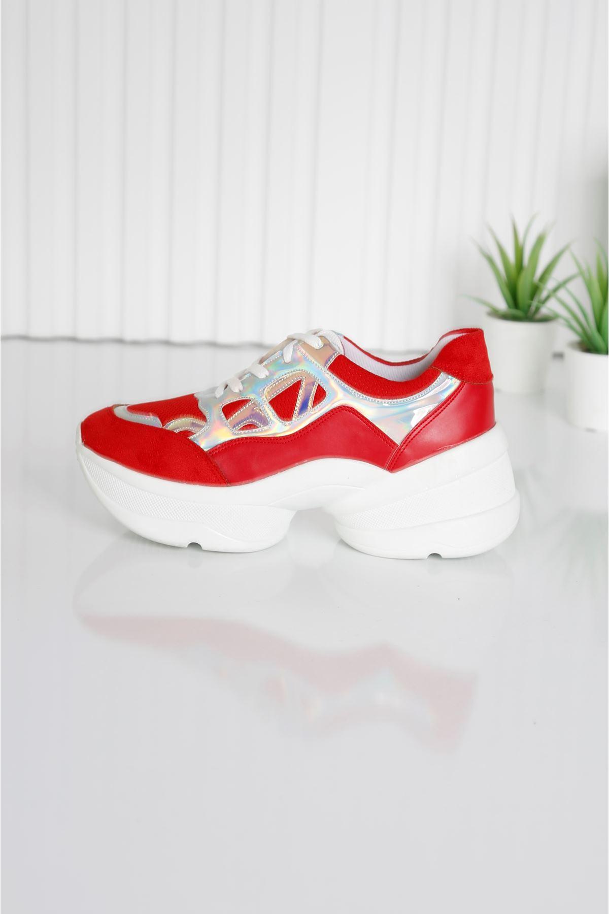 CUPS Kadın Kırmızı Spor Ayakkabı