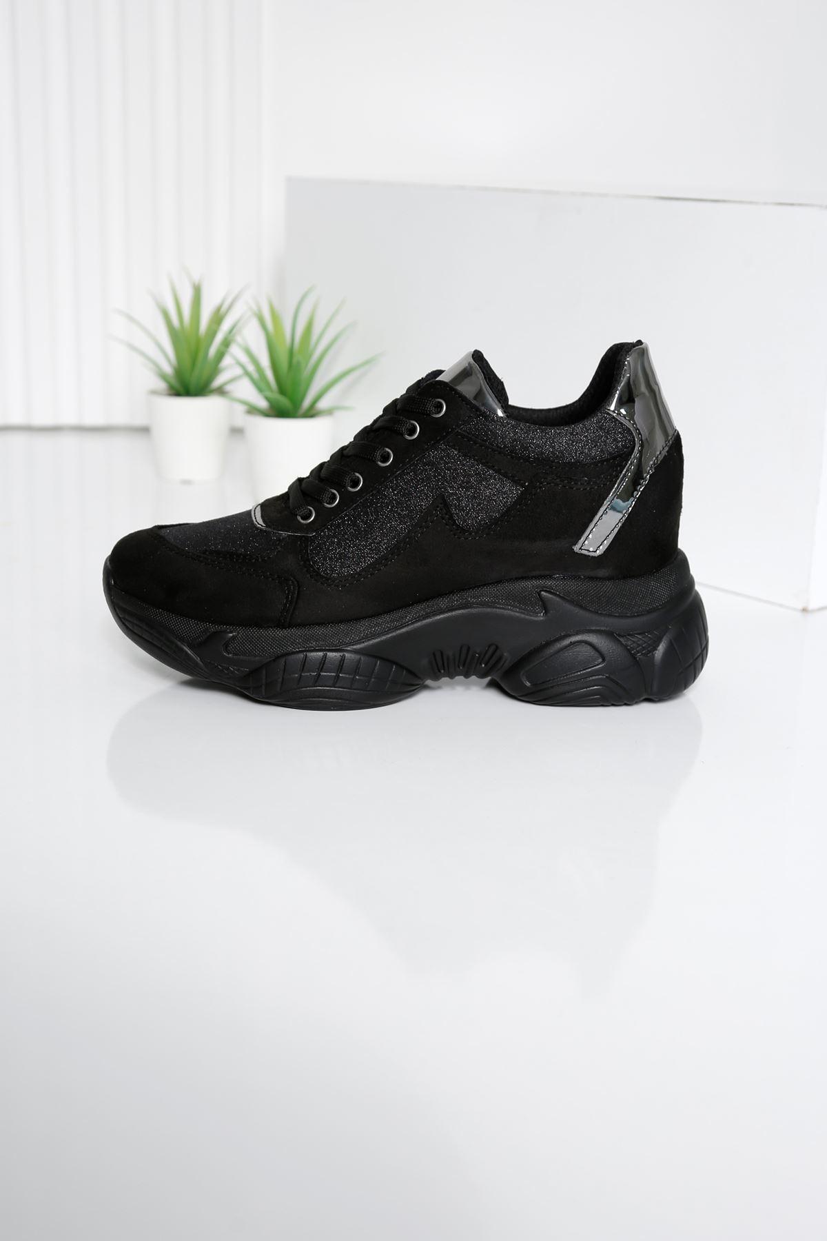 GEEST Siyah Kadın Spor Ayakkabı