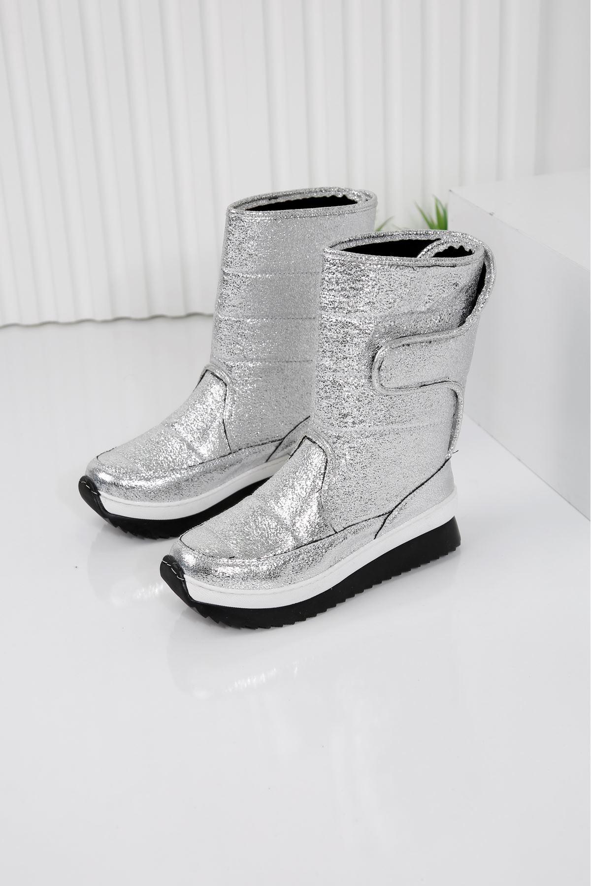 SNOW Gümüş Kadın Kar Botu