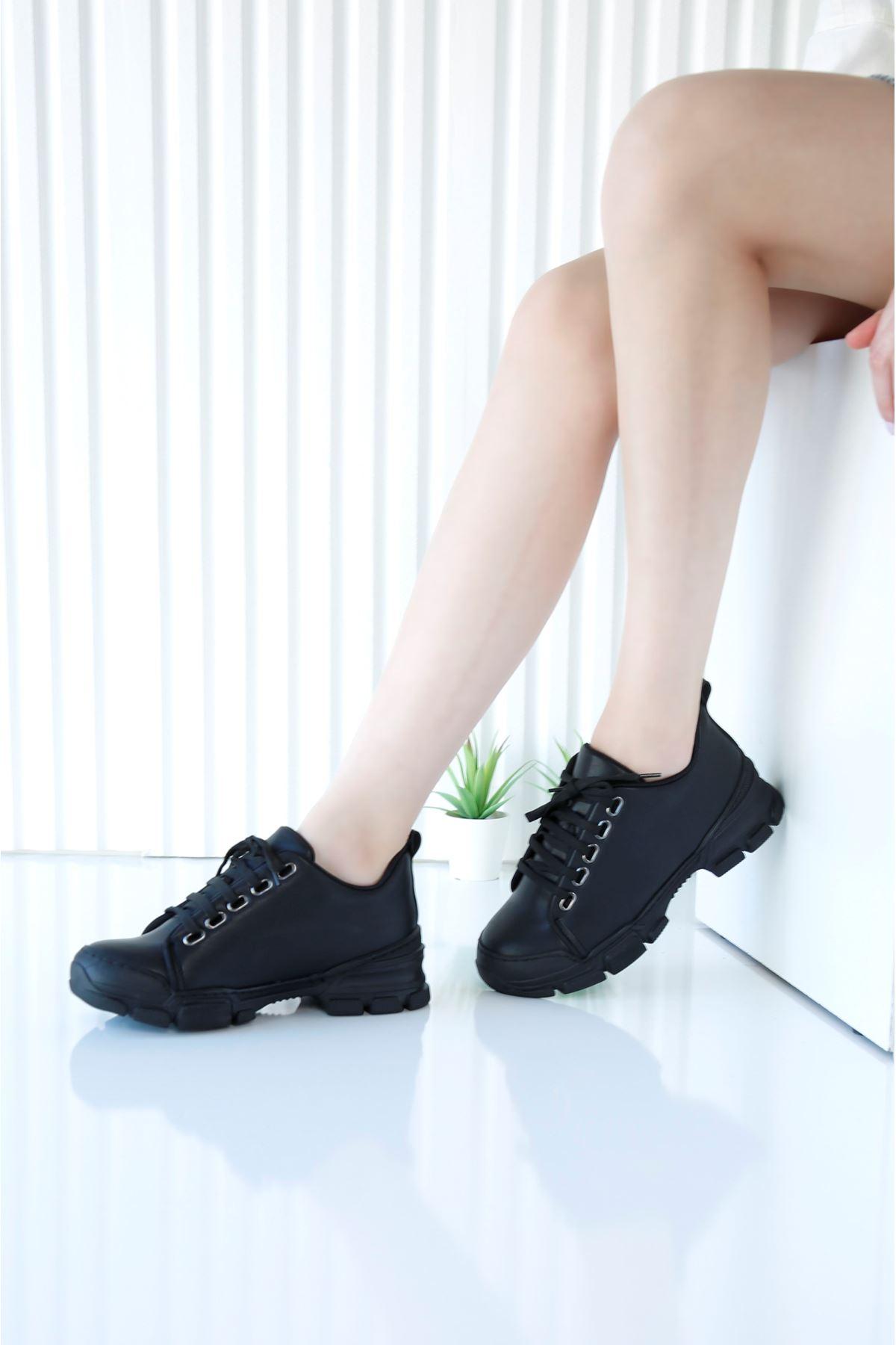 STANFORD Siyah Cilt Spor Ayakkabı