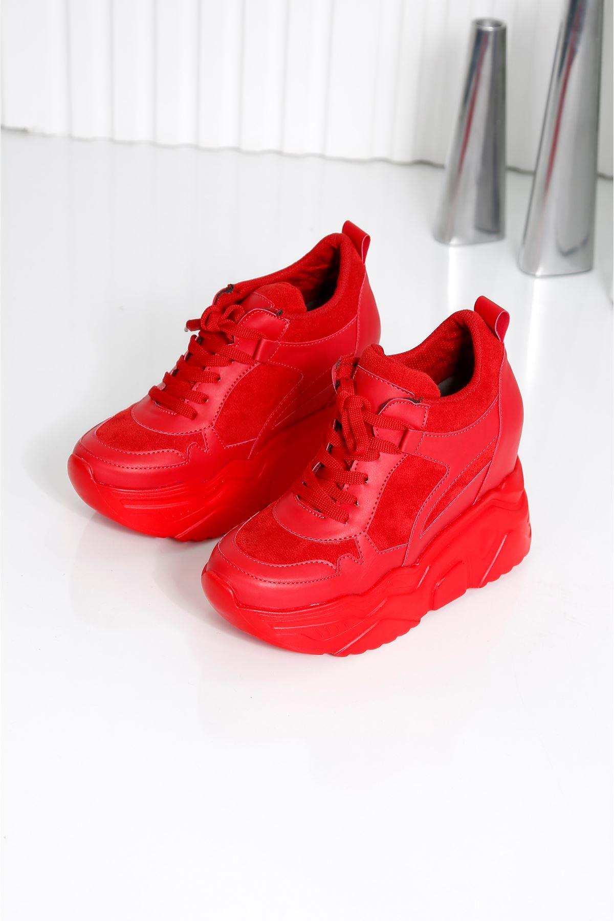 Showy Kırmızı Platform Spor Ayakkabı
