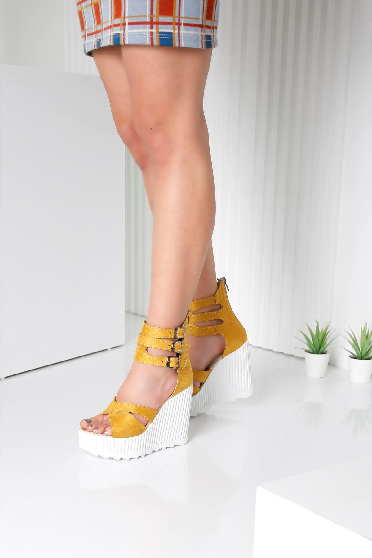 Alto Sarı Kadın Platform Ayakkabı