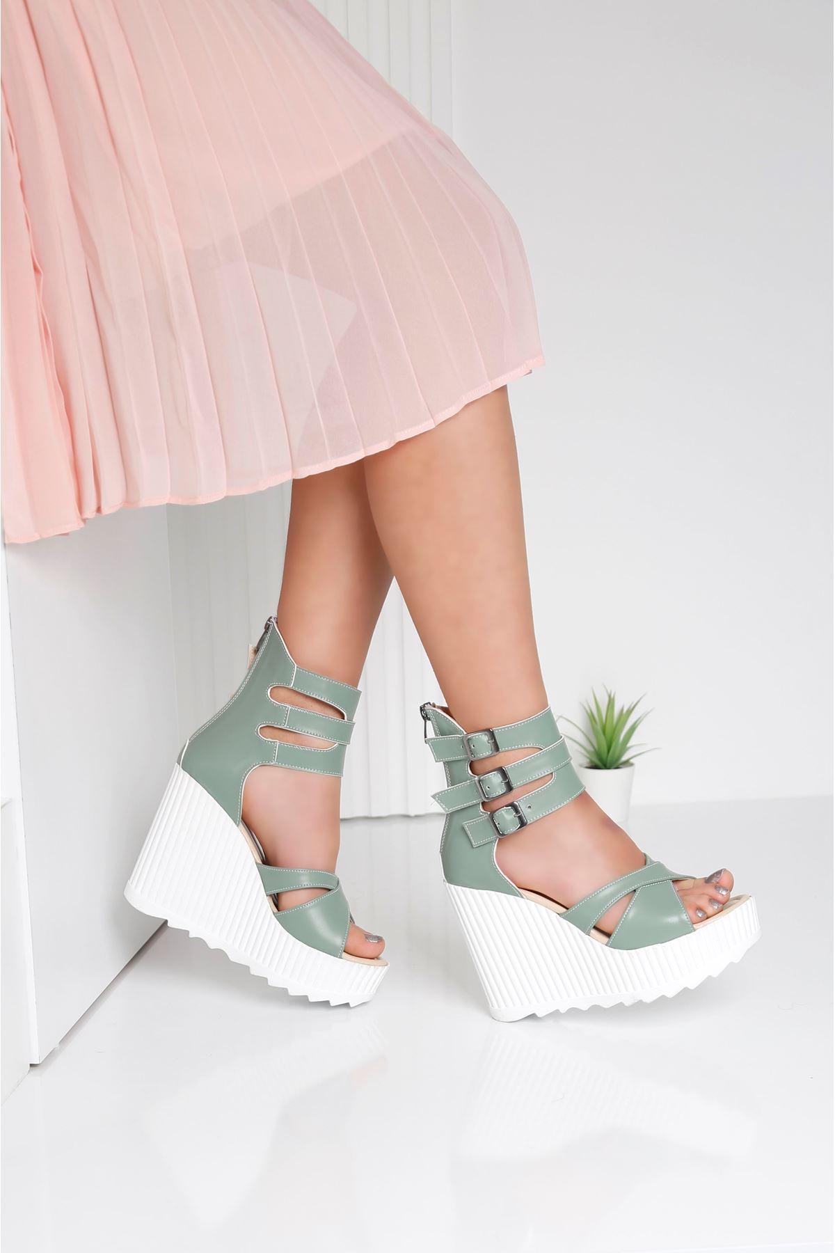 Alto Mint Yeşili Kadın Platform Ayakkabı
