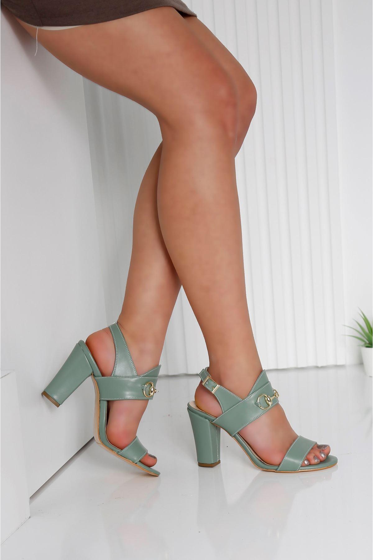 RAYNE Mint Yeşili Topuklu Kadın Ayakkabı