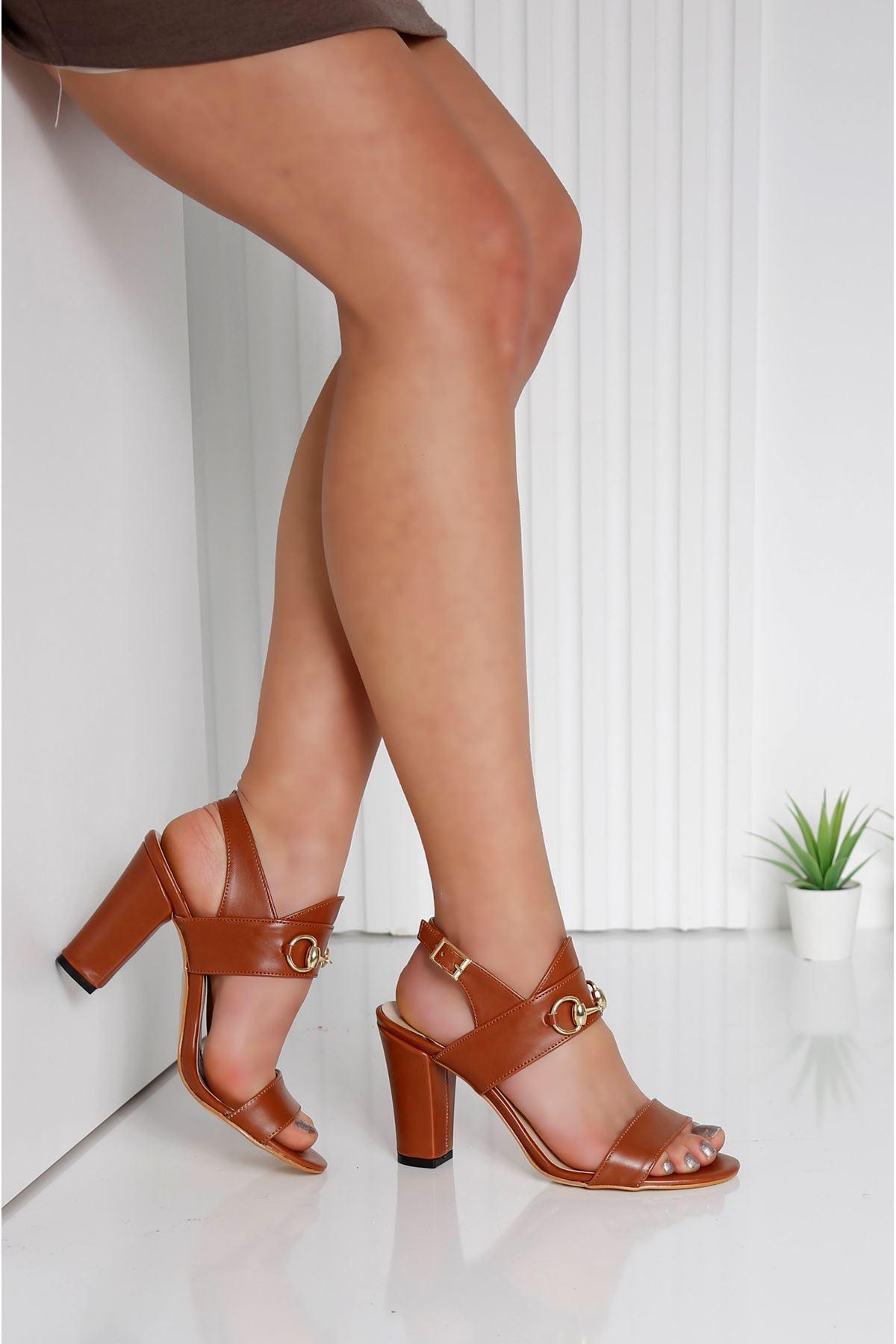 RAYNE Taba Topuklu Kadın Ayakkabı
