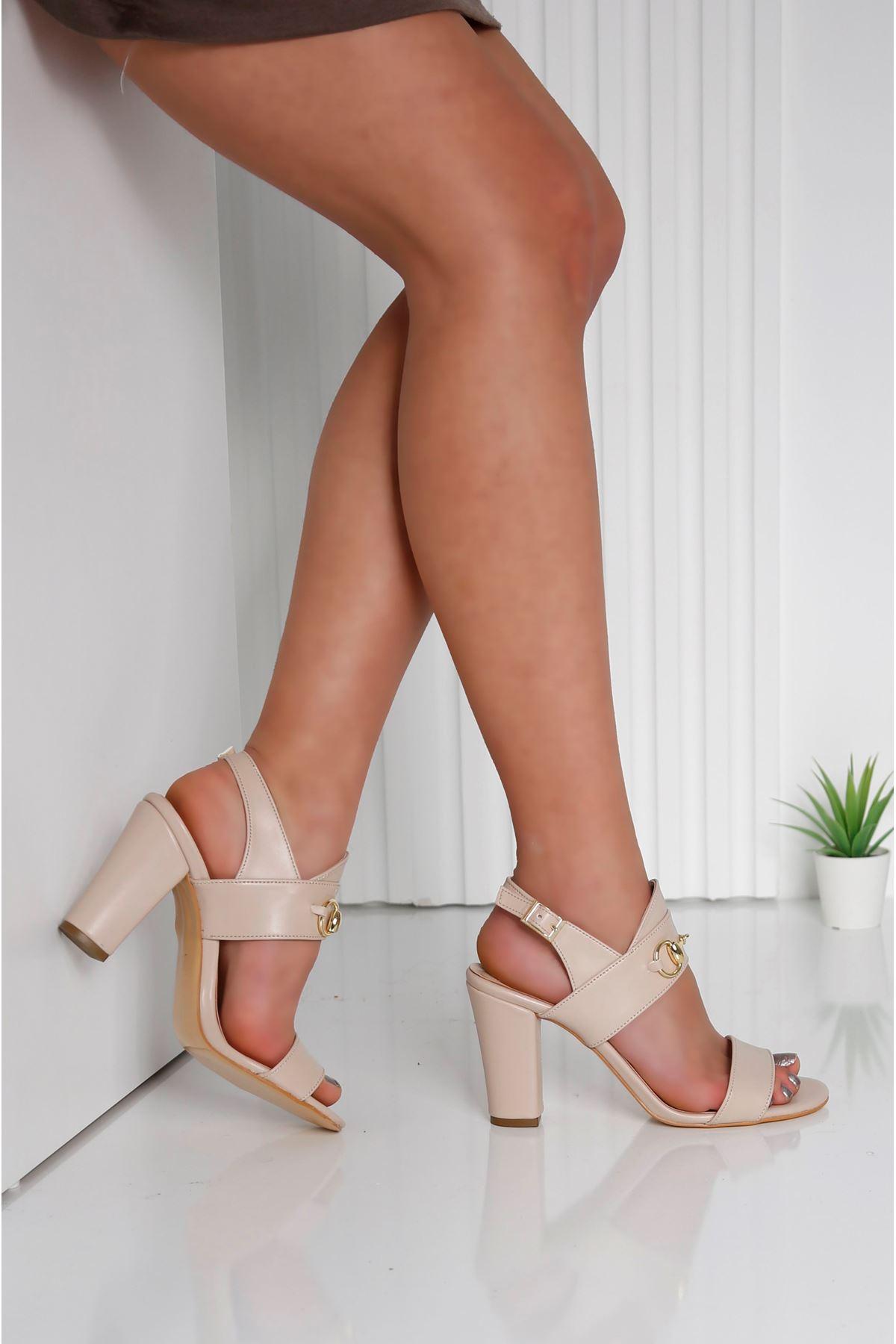 RAYNE Krem Topuklu Kadın Ayakkabı