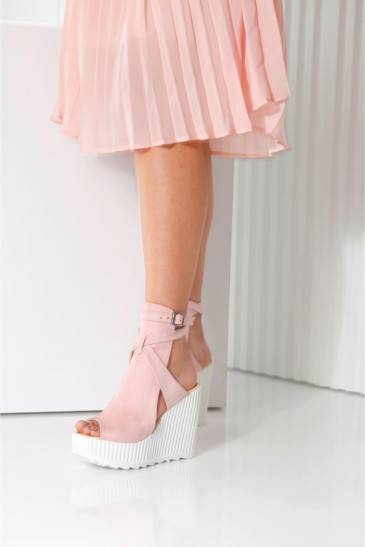 ALVINA Pembe Kadın Platform Ayakkabı